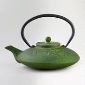 Green Bamboo Cast Iron Teapot