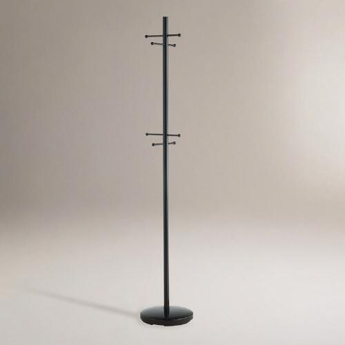 Black Metal Coat Storage Rack