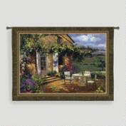 Vineyard Villa Tapestry Wall Hanging