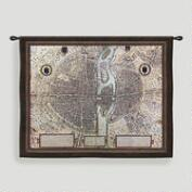 Map of Paris Tapestry Wall Hanging