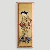 Lady with a Dog Tapestry Wall Hanging