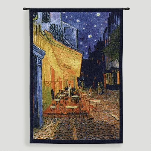 Cafe Terrace at Night Tapestry Wall Hanging