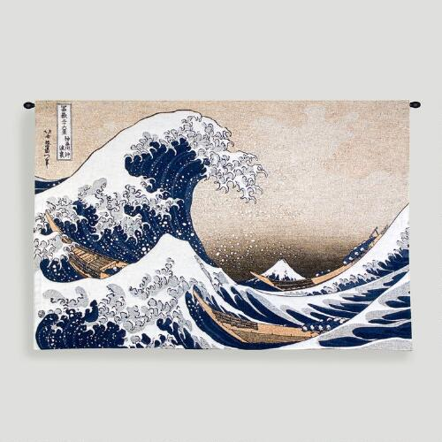 Great Wave At Kanagawa Tapestry Wall Hanging