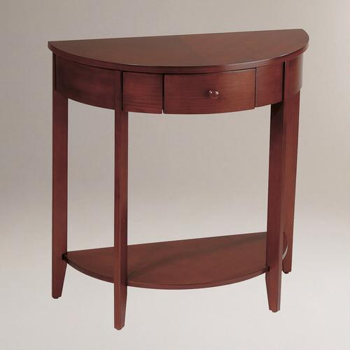 Walnut Laurel Console Table
