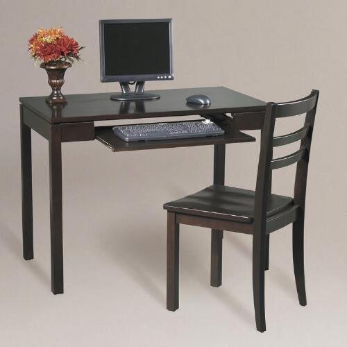 Espresso Dillon 2-Piece Desk and Chair Set