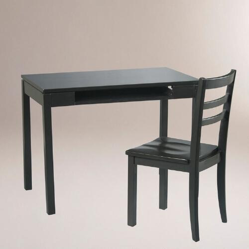 Black Dillon 2-Piece Desk & Chair Set