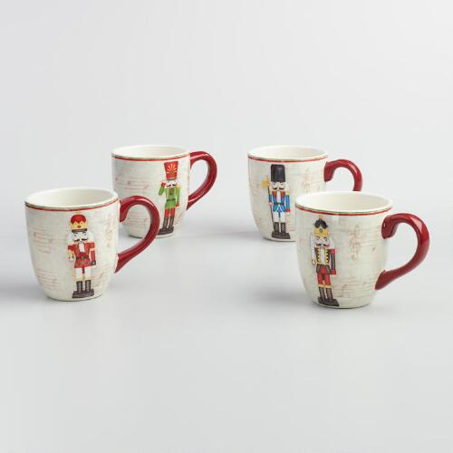 Nutcracker Mugs, Set of 4