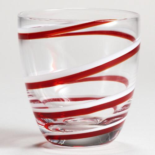 Candy Cane Shot Glasses, Set of 2