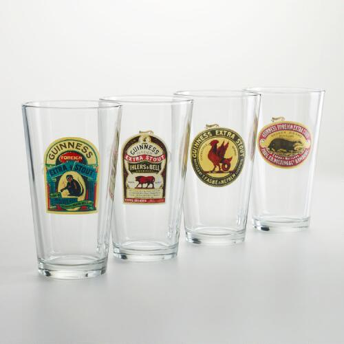 Classic Brewery Glasses, Set of 4