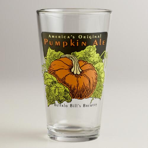 Pumpkin Ale Pint Glasses, Set of 2