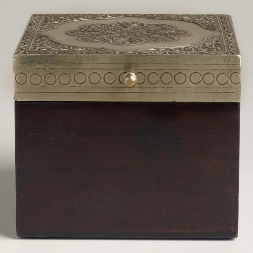 Giulia Metal Overlay Jewelry Box