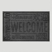 World Wide Welcome WaterGuard Standard Doormat, Charcoal