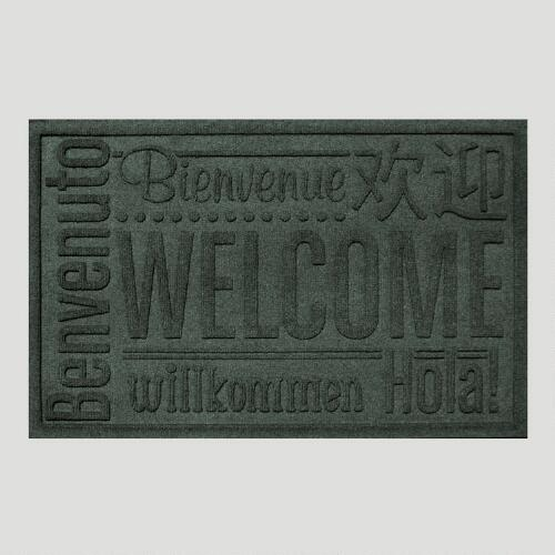 Evergreen World Wide Welcome WaterGuard Doormat