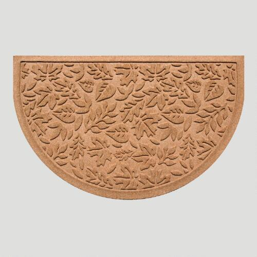 Medium Brown Fall Leaves Half-Round WaterGuard Doormat