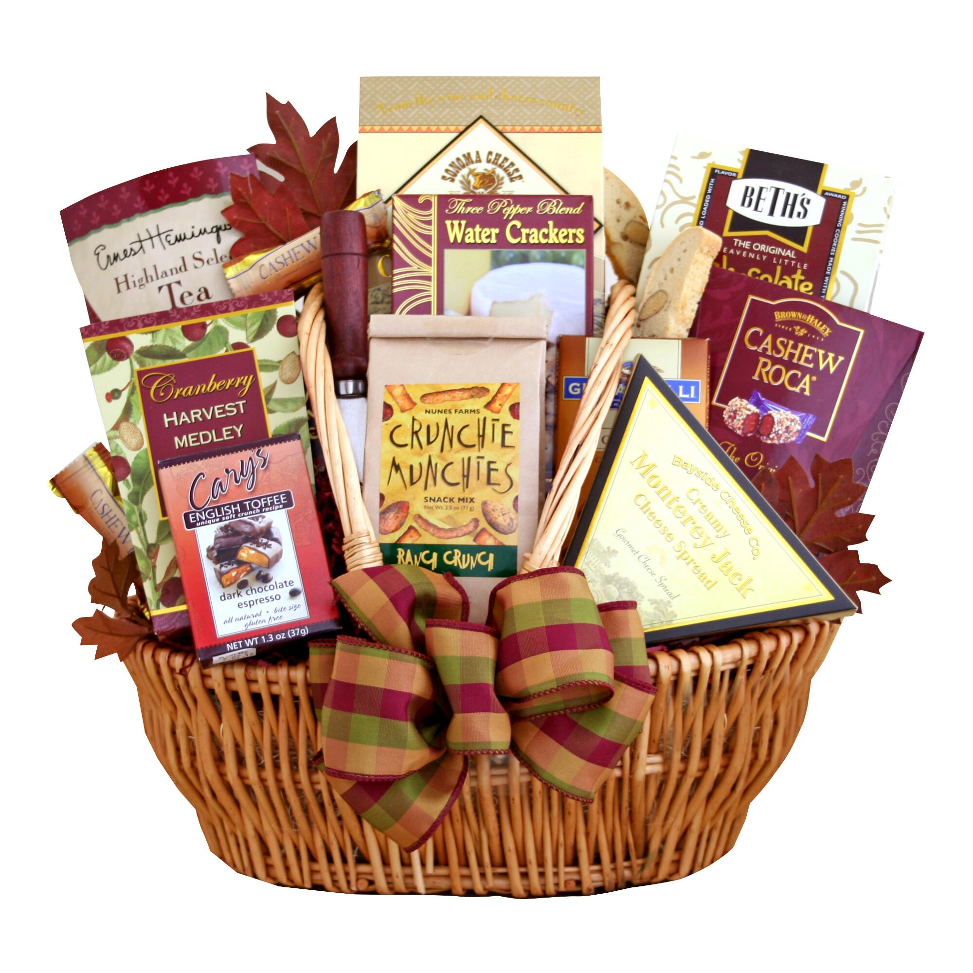 New Home Gifts Gift Baskets Gifts Com: Munchies Galore Gift Basket