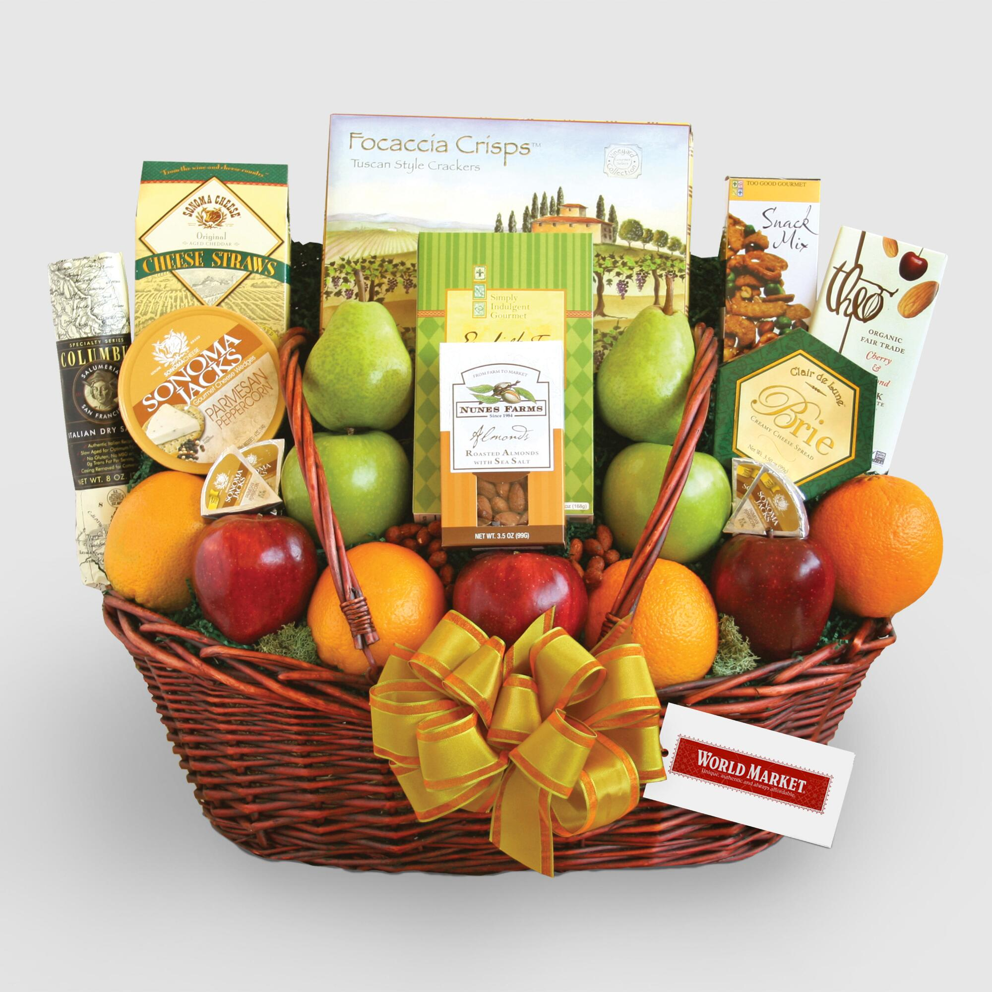Buy healthy food gift baskets - Healthy Good Wishes Gift Basket - World Market
