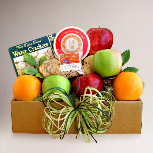 Seasonal Fruit and Cheese Gift Box