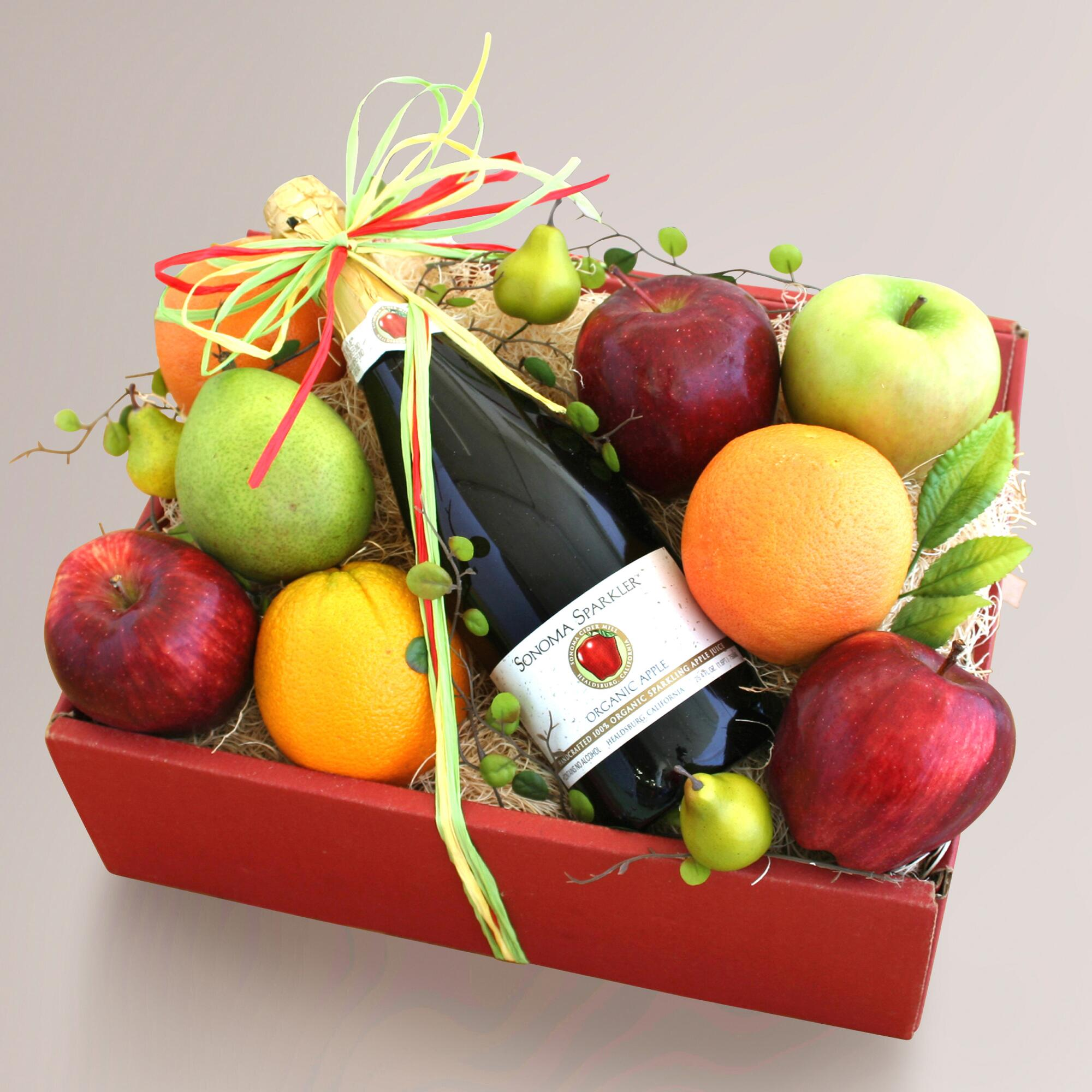Buy juice gift baskets - Organic Sparkler Gift Basket - World Market