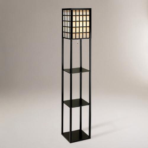 Window Pane Shelf Floor Lantern