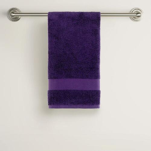 Mysterioso Purple Cotton Hand Towels
