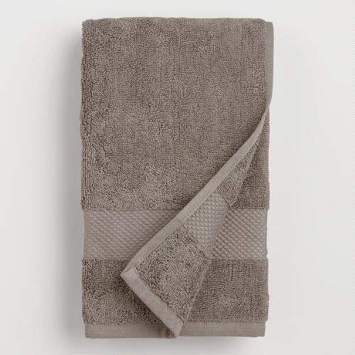 Frost Gray Cotton Hand Towels
