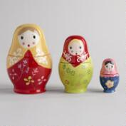 Russian Dolls Measuring Cups, Set of 3