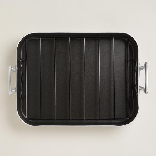 Aluminum Roasting Pan with Rack