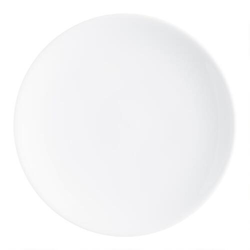 White Coupe Salad Plates, set of 4