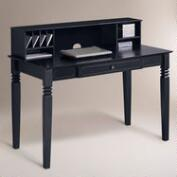 Black Douglas Desk with Hutch