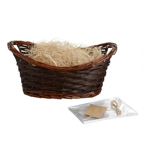 Brown Gift Basket Kit