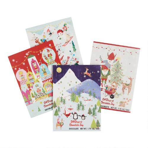 Wawi Chocolate Advent Calendar Set of 4