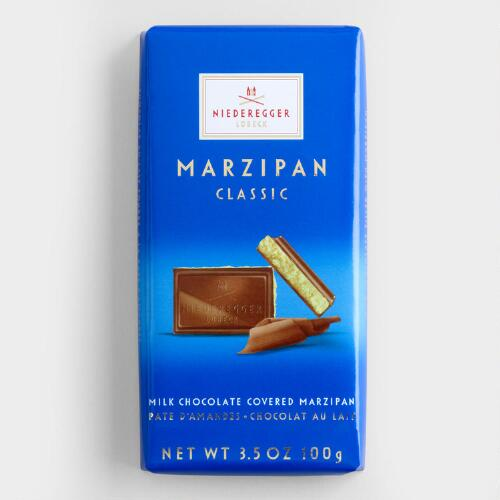 Niederegger Marzipan Milk Chocolate Bar, Set of 2