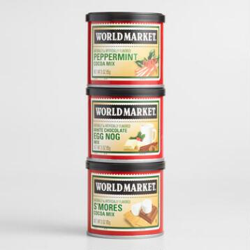 World Market® Holiday Cocoa 3-Pack Stack