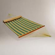 Multi Stripe 2 Person Quilted Hammock with Bolster Pillow