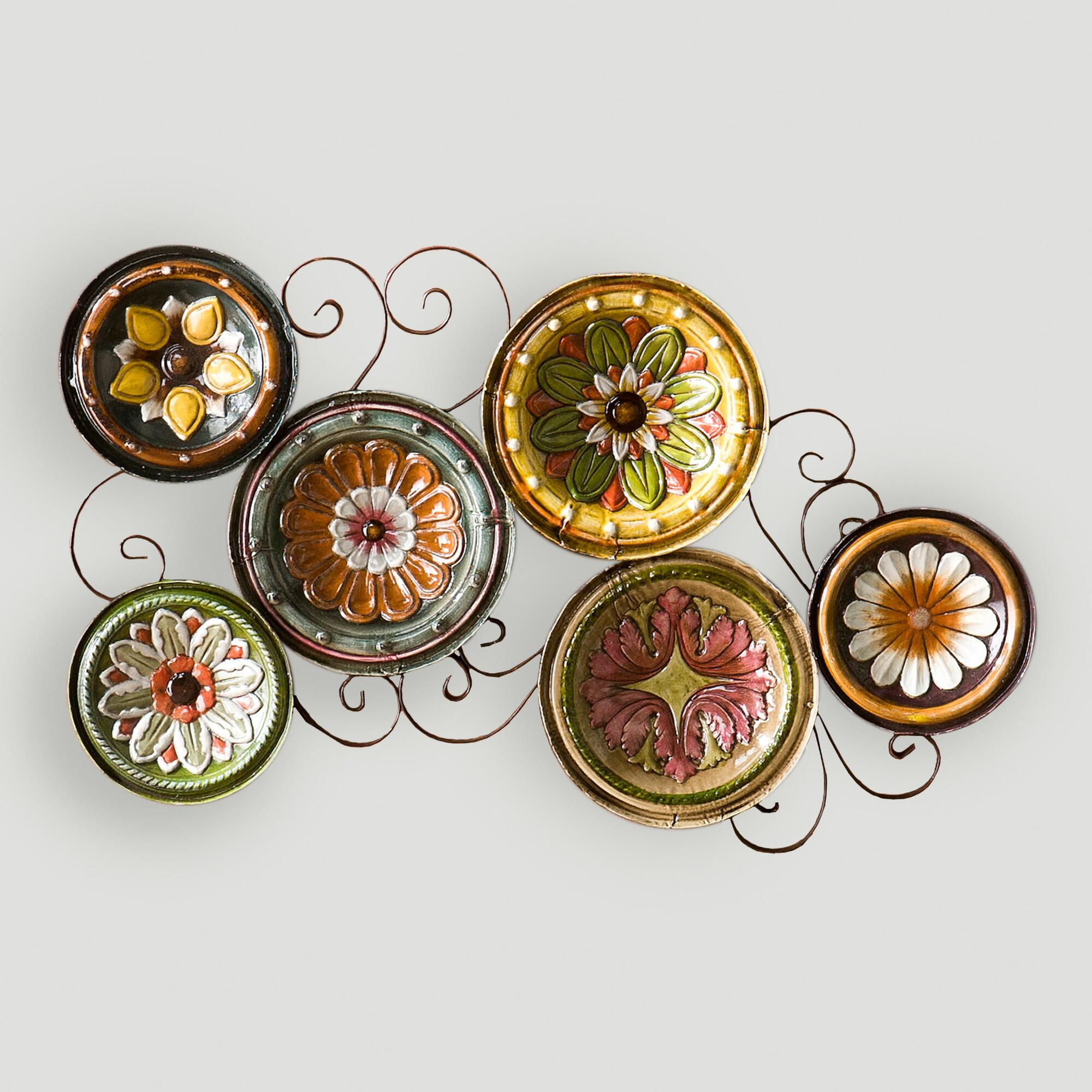 Delfina italian scattered plates wall art world market - Fancy wall designs ...