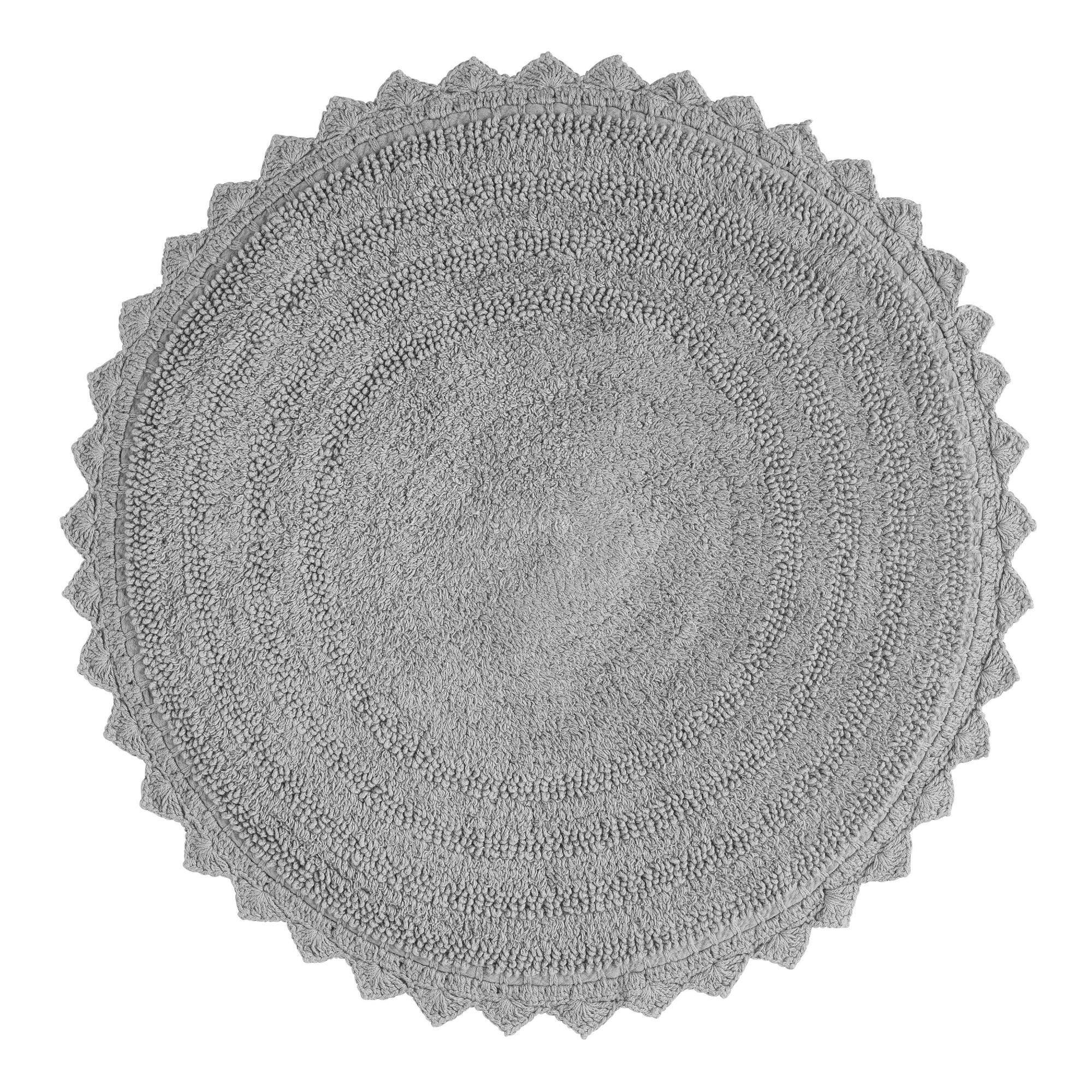 Frost Gray Round Bath Mat World Market
