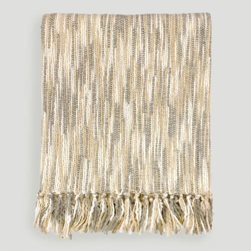 Cream/Gray Taryn Throw