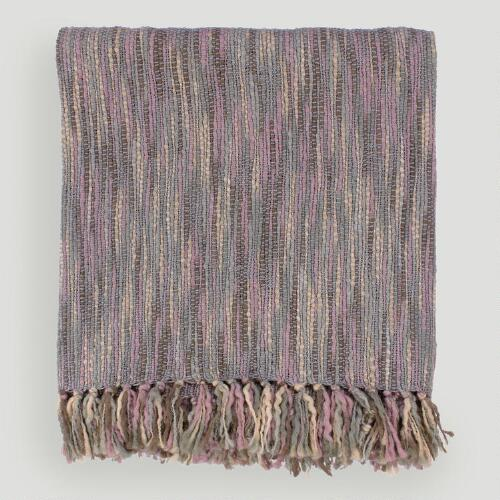 Mauve/Gray Taryn Throw