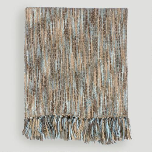 Blue/Beige Taryn Throw