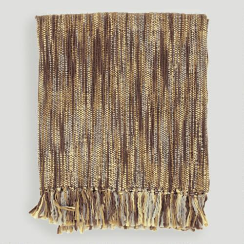 Brown/Gray/Ivory Taryn Throw