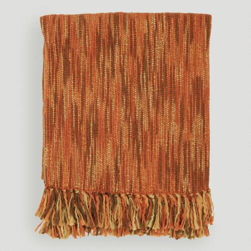 Orange/Rust/Brown/Camel Taryn Throw