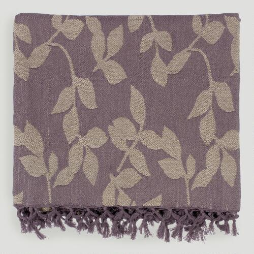 Plum/Tan Tabitha Throw