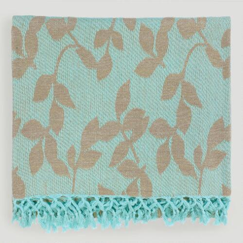Aqua/Tan Tabitha Throw