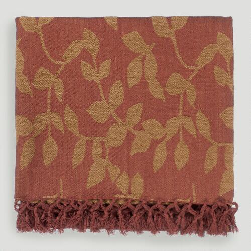 Coral Red/Caramel Tabitha Throw