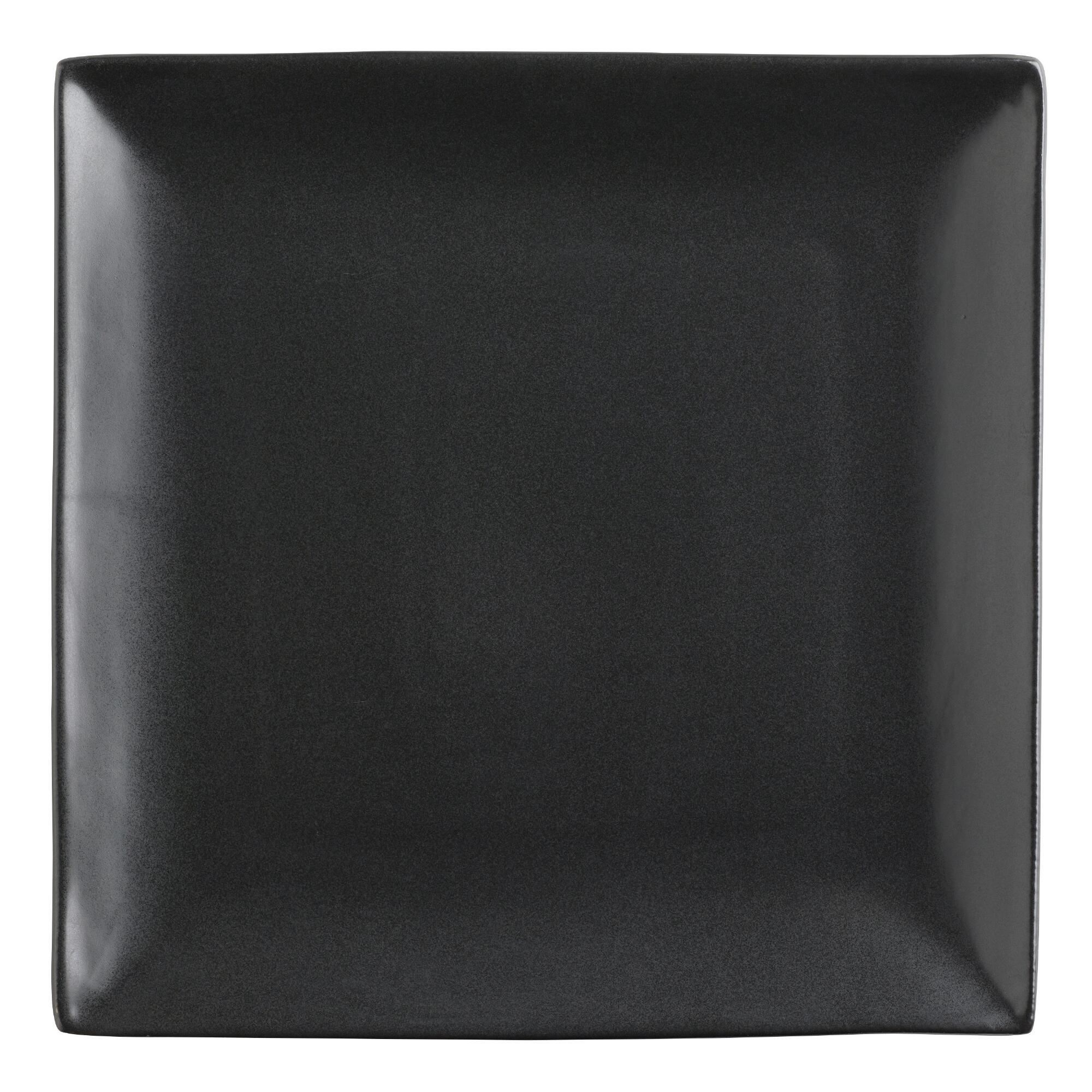 square black trilogy dinner plates set of 4 world market