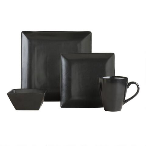 square black trilogy salad plates set of 4 world market
