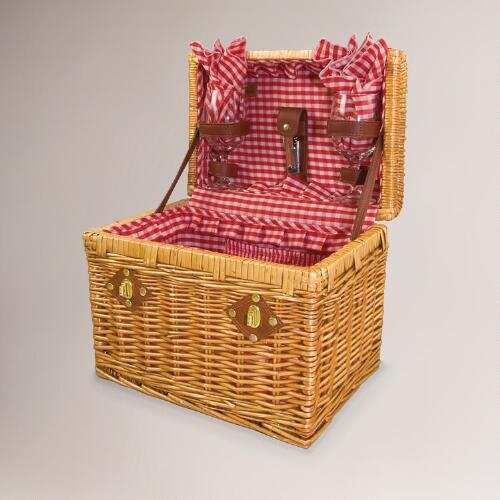 Pinot Willow Wine Basket