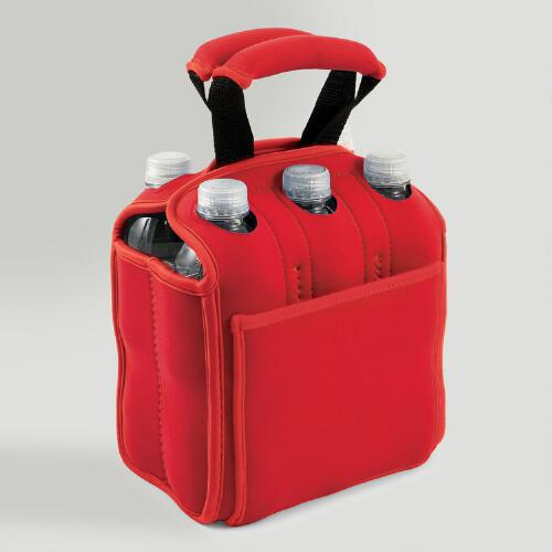 Insulated Six-Pack Holder, Red