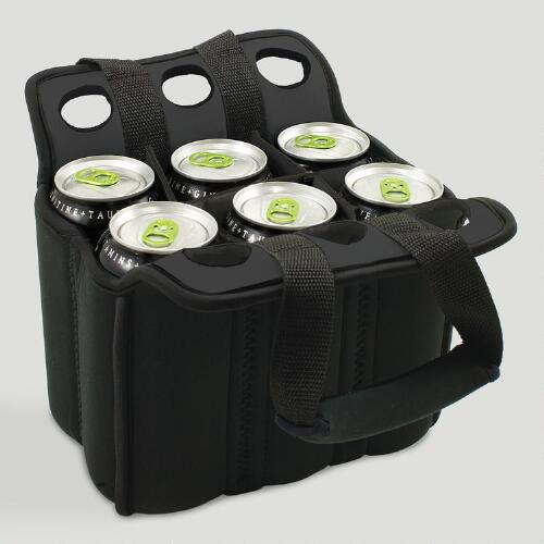 Insulated Six-Pack Holder, Black