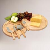 Circular Cheese Board and Tool Set